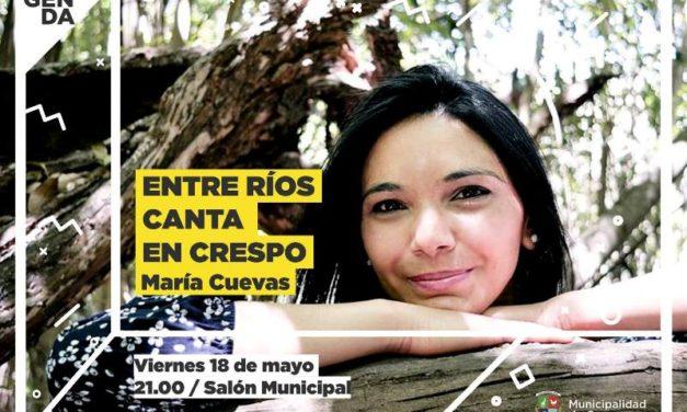ENTRE RÍOS CANTA EN CRESPO: MARÍA CUEVAS