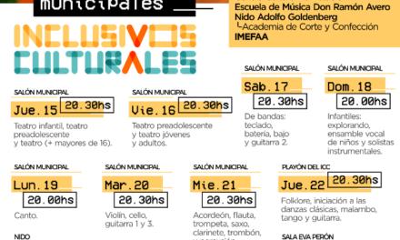MUESTRAS DE TALLERES INCLUSIVOS CULTURALES