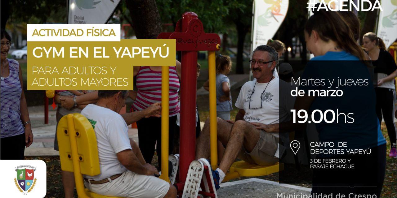 Gym al aire libre en el Yapeyú