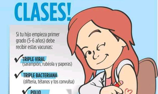 Contamos con vacunas para el ingreso escolar