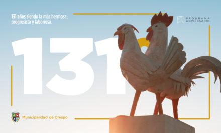 FESTEJAMOS 131 AÑOS DE TRABAJO Y PROGRESO