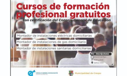 PREINSCRIPCIONES PARA CURSOS DE FORMACIÓN PROFESIONAL