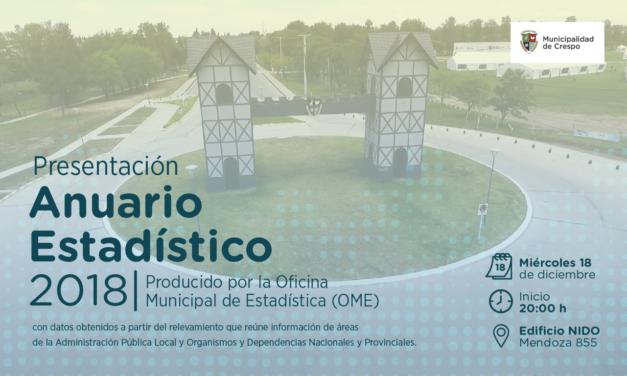 PRESENTACIÓN DEL ANUARIO ESTADÍSTICO 2018
