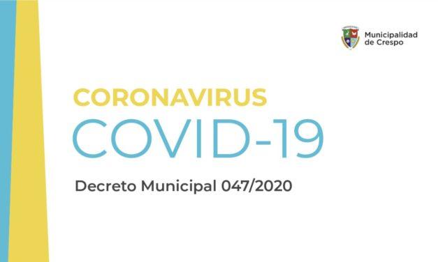 CORONAVIRUS: NUEVAS DISPOSICIONES PARA LA ATENCIÓN AL PÚBLICO EN LAS DEPENDENCIAS DE LA MUNICIPALIDAD