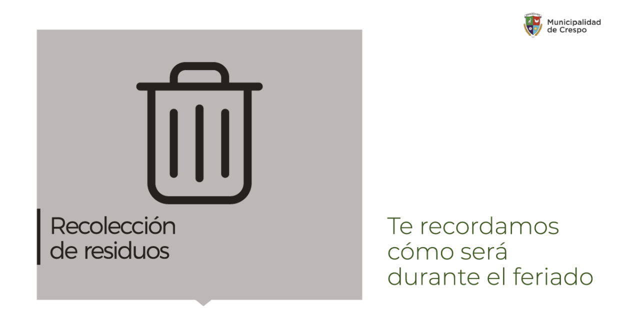 ASÍ FUNCIONARÁ EL SERVICIO DE RECOLECCIÓN DE RESIDUOS DOMICILIARIOS