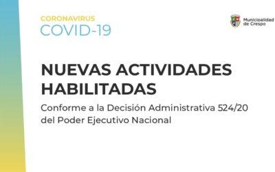 CUARENTENA ADMINISTRADA: EL GOBIERNO NACIONAL ESTABLECIÓ NUEVAS EXCEPCIONES