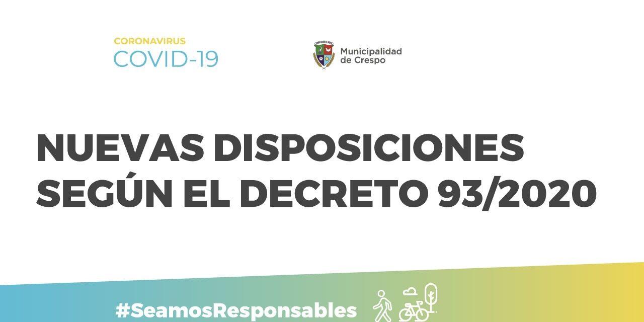 EL GOBIERNO MUNICIPAL DE LA CIUDAD DE CRESPO HABILITÓ NUEVAS ACTIVIDADES