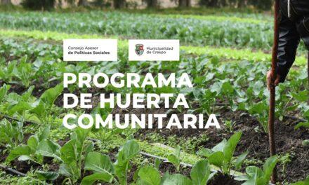 ESTÁN ABIERTAS LAS ENTREVISTAS PARA EL PROGRAMA DE HUERTA COMUNITARIA AGROECOLÓGICA DEL CONSEJO ASESOR DE POLÍTICAS SOCIALES