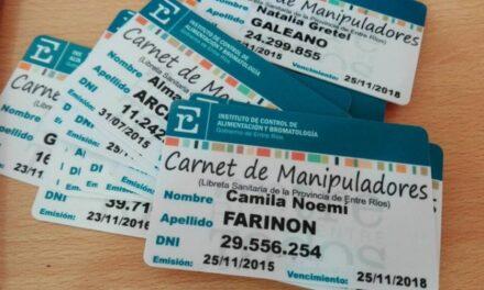 PRÓRROGA EN LA VIGENCIA DE LOS CARNETS DE MANIPULADOR DE ALIMENTOS