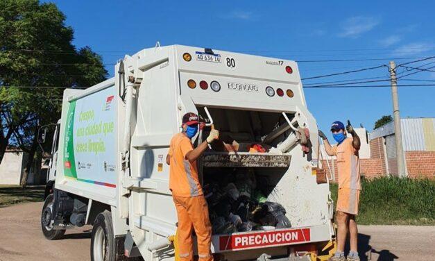 ASÍ FUNCIONARÁ EL SERVICIO DE RECOLECCIÓN DE RESIDUOS DOMICILIARIOS ESTA SEMANA