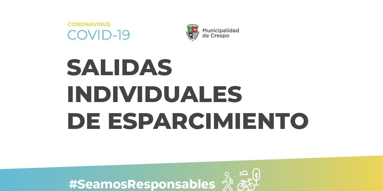 DARÍO SCHNEIDER HABILITÓ LAS SALIDAS DE ESPARCIMIENTO EN LA CIUDAD DE CRESPO