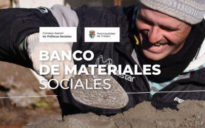 EL BANCO DE MATERIALES SOCIALES YA BENEFICIÓ A CUATRO FAMILIAS