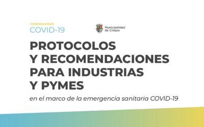 PROTOCOLOS Y RECOMENDACIONES PARA INDUSTRIAS Y PYMES