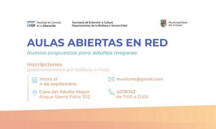 AULAS ABIERTAS EN RED: NUEVAS PROPUESTAS PARA ADULTOS Y ADULTOS MAYORES