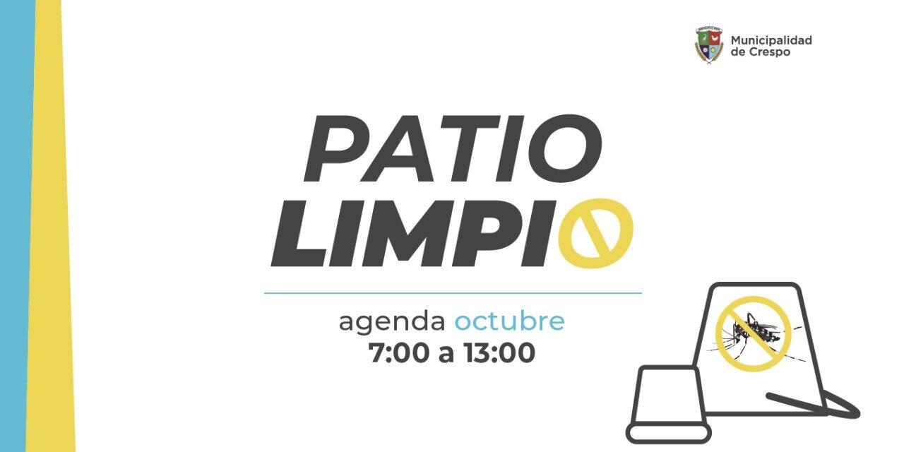 PATIO LIMPIO: CRONOGRAMA PARA EL MES DE OCTUBRE