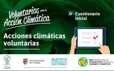 VOLUNTARIOS DE CRESPO PARA LA ACCIÓN CLIMÁTICA