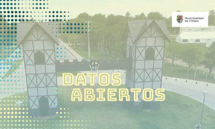 LA MUNICIPALIDAD DE CRESPO CUENTA CON UN NUEVO PORTAL DE DATOS ABIERTOS