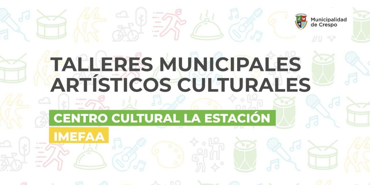 COMIENZAN LOS TALLERES ARTÍSTICOS Y CULTURALES