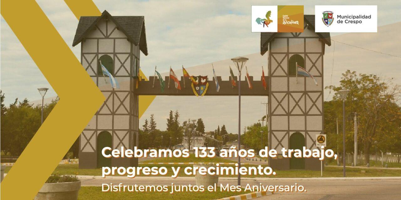 CELEBRAMOS 133 AÑOS DE TRABAJO, PROGRESO Y CRECIMIENTO