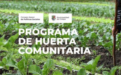 ABRIMOS LAS INSCRIPCIONES PARA PARTICIPAR EN LA HUERTA COMUNITARIA AGROECOLÓGICA