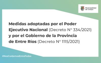 ACTIVIDADES ESENCIALES HABILITADAS POR EL GOBIERNO NACIONAL Y PROVINCIAL