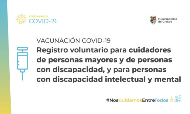INSCRIPCIÓN PARA VACUNACIÓN CONTRA COVID-19