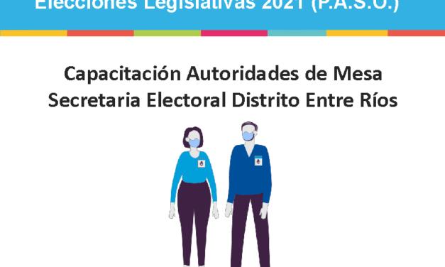 INFORMACIÓN IMPORTANTE PARA AUTORIDADES DE MESA EN LA CIUDAD DE CRESPO